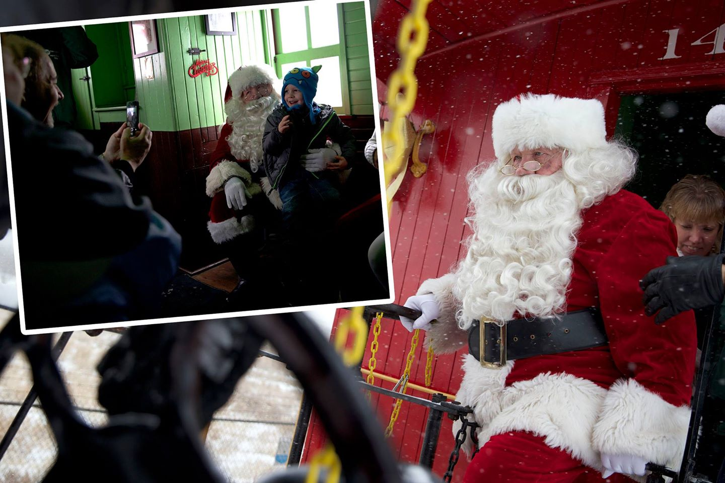Record breaking crowds board Santa Train