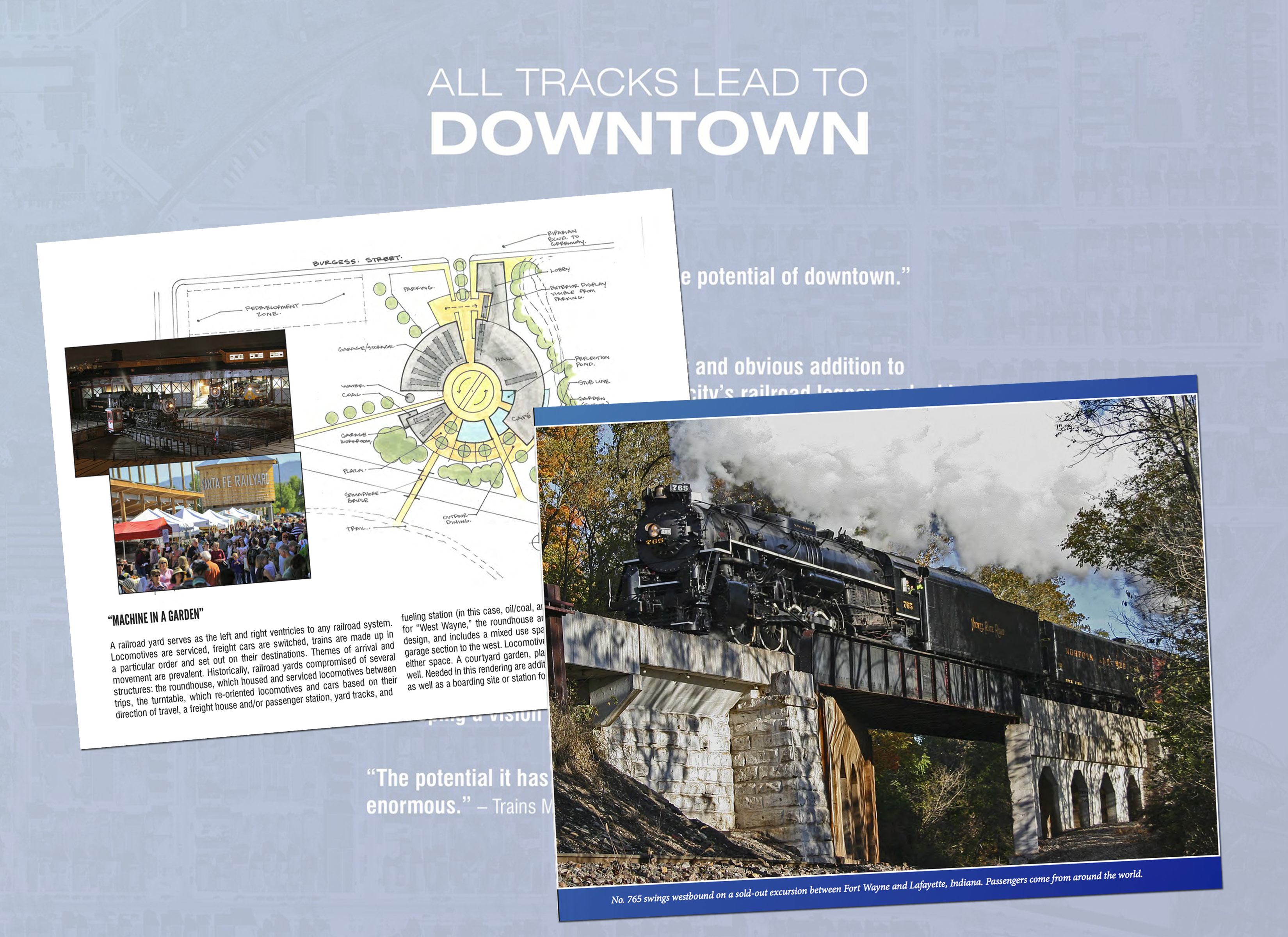 New summary of plan showcases river and rail possibilities