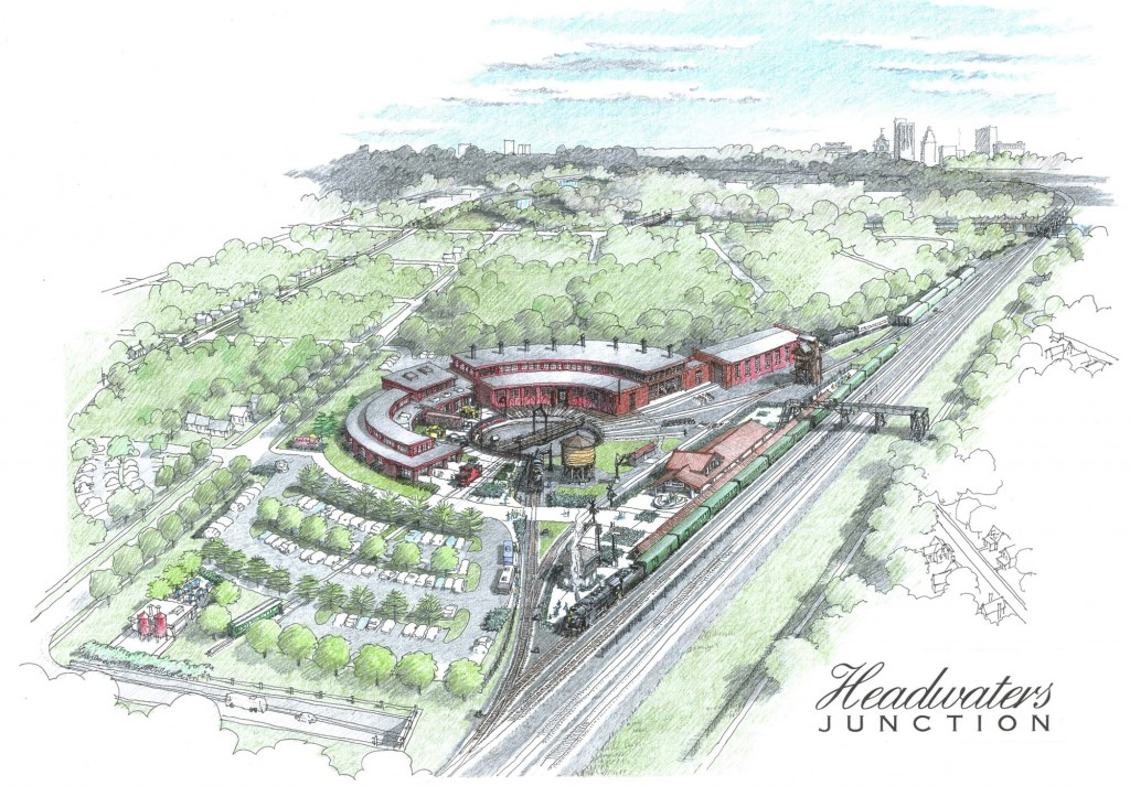 An artist's rendering of Headwaters Junction.