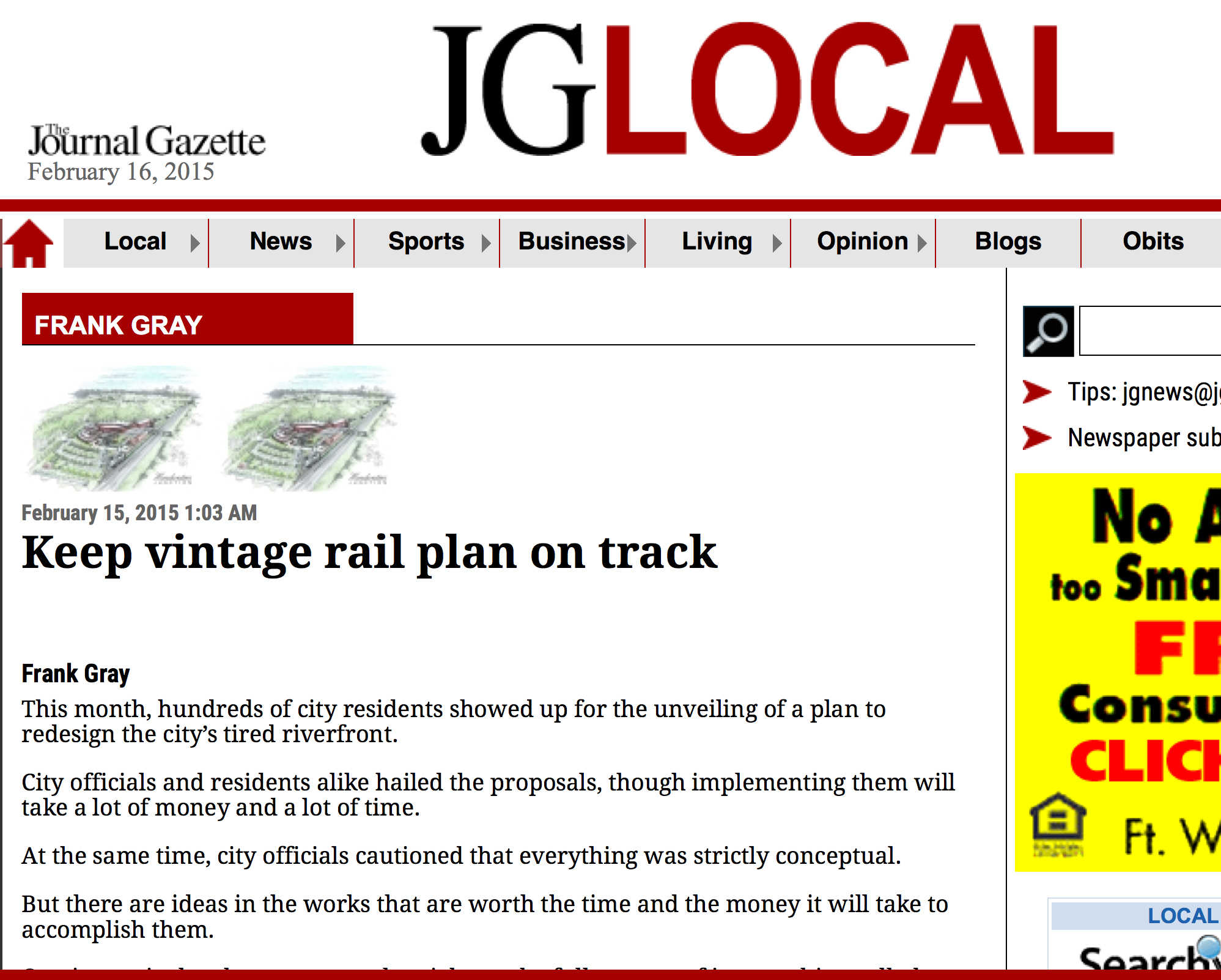 """Keep vintage rail plan on track"""